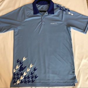 Men's Blue Oakley golf polo Shirt